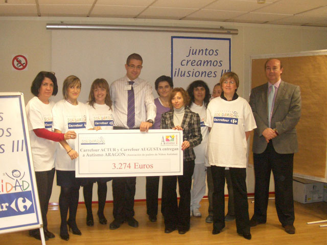 La Fundación Solidaridad Carrefour ayuda a la Asociació de Padres Niños Autistas de Aragón con más de 3.200 euros