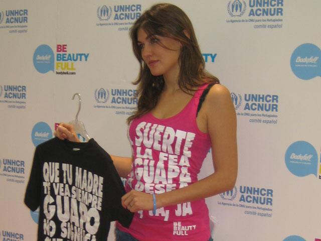 Bodybell comercializa una línea de camisetas solidarias para apoyar la labor de Acnur