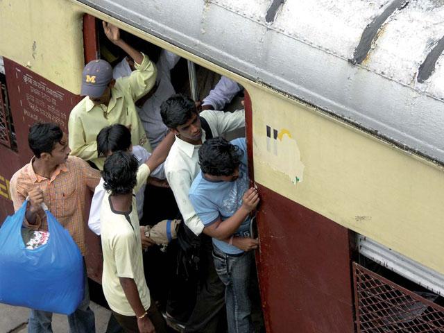 Hora punta en Mumbai