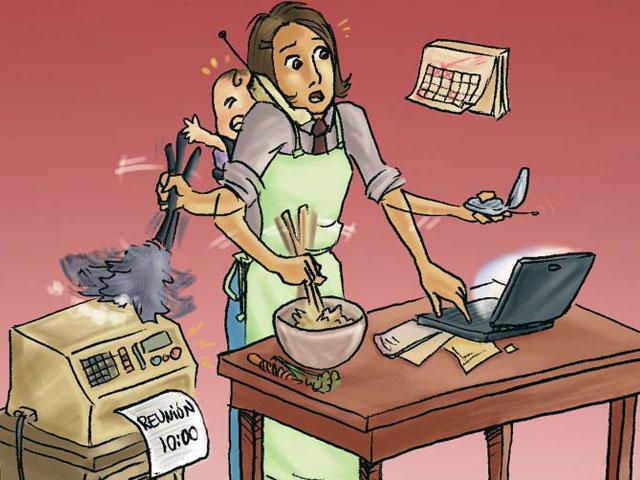 ¿Trabajo o familia?
