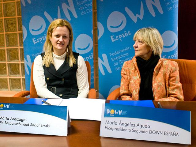 Fundación Eroski y Down España, juntos para prevenir la obesidad