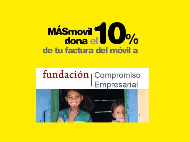 MÁSmovil apoya a cuatro ONG, entre ellas: Fundación Compromiso Empresarial