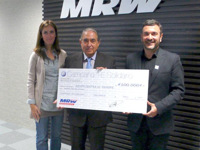 MRW entrega 100.000 euros a Acción Contra el Hambre