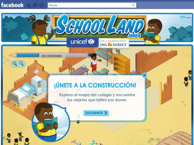 Unicef España lanza School Land, la primera escuela que se construye en Facebook y se hace realidad en Zambia