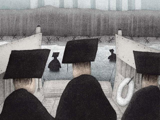 Los alumnos de Harvard desembarcan en el terreno de la base de la pirámide
