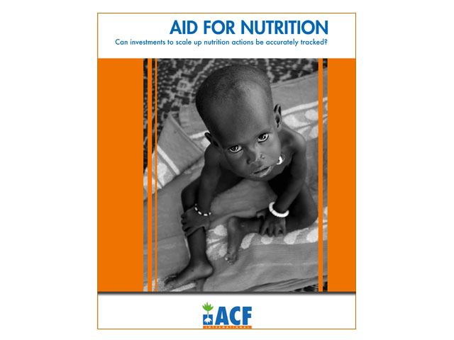 El informe Aid for Nutrition desvela que solo se destina a desnutrición un uno por ciento de los fondos necesarios