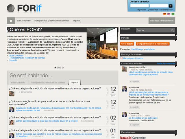 Nace el mayor foro iberoamericano de fundaciones: www.forif.org