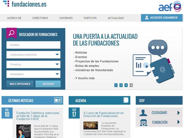 Nace el primer directorio online de fundaciones españolas