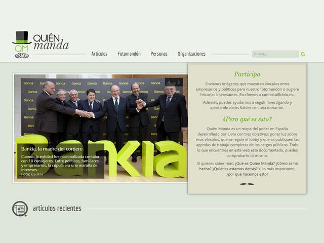 QuiénManda.es desvela los vínculos entre empresarios y políticos