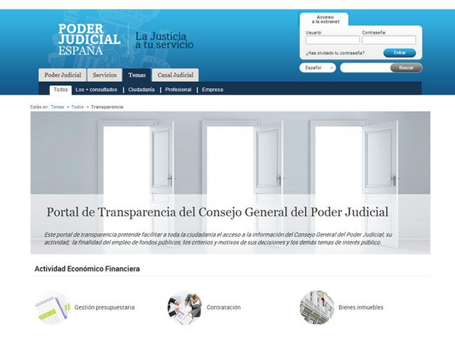 El Poder Judicial se abre a los ciudadanos a través de un portal de transparencia