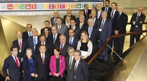Ban Ki-moon pide a los empresarios españoles liderar el cumplimiento de la Agenda de Desarrollo