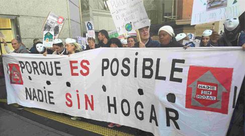 Miles de personas sin hogar reclaman sus derechos en marchas simultáneas por España