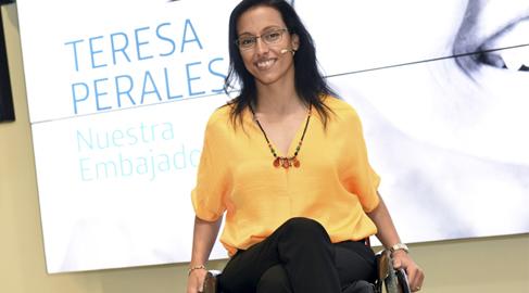 La nadadora paralímpica Teresa Perales, personaje social del 2015