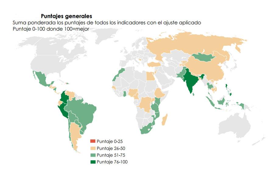 Colombia y Perú lideran el nuevo reporte global sobre inclusión financiera