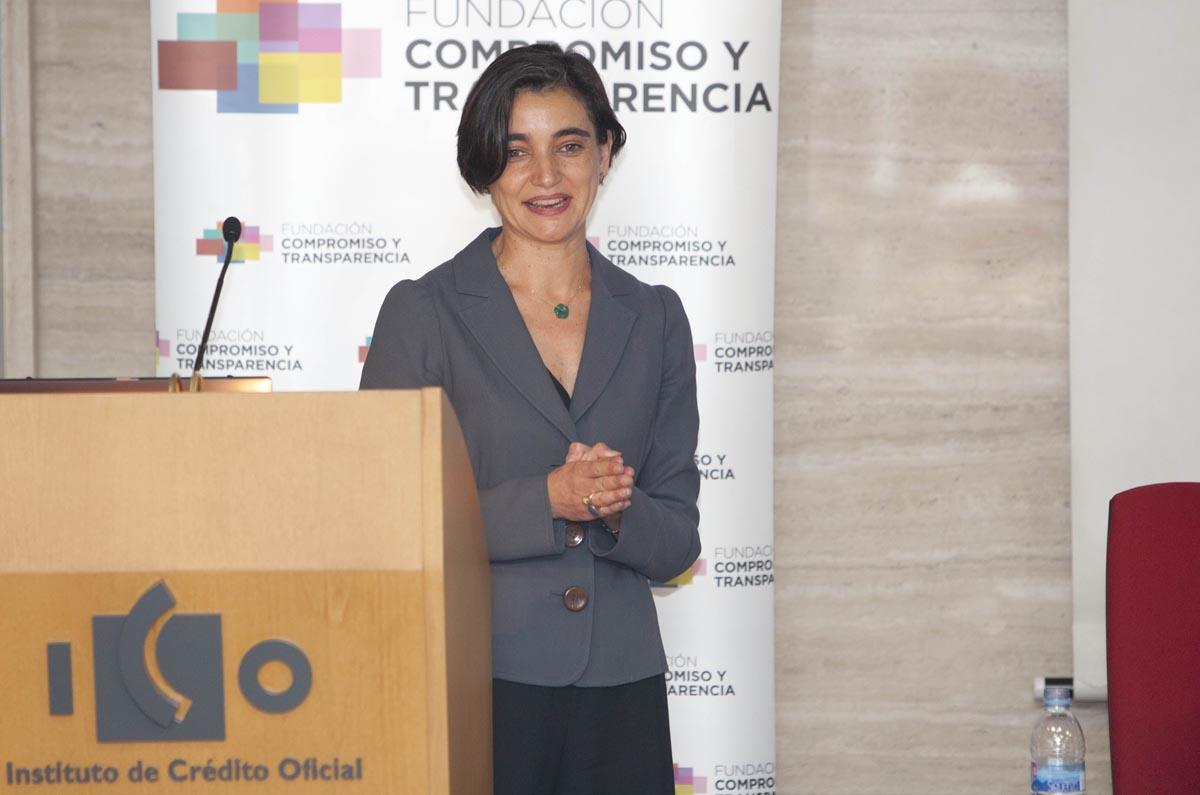 <p>María López Escorial, presidenta de la Fundación Compromiso y Transparencia cerró la jornada 'Cómo impulsar en la empresa la defensa de la competencia: transparencia, cumplimiento y gobierno corporativo'.</p>