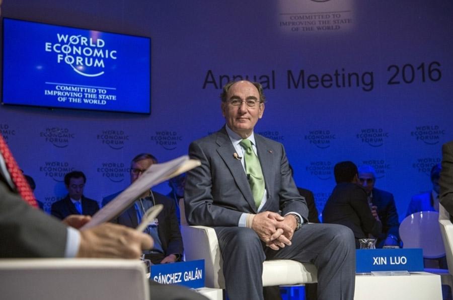 <p>Ignacio Galán, presidente de Iberdrola, en el Foro de Davos 2016.</p>