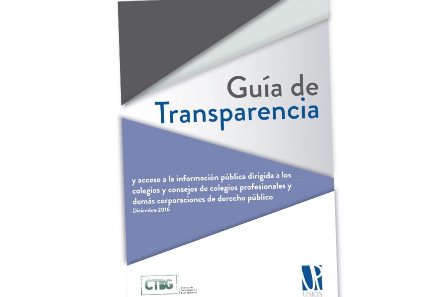 Nueva guía para que consejos y colegios profesionales cumplan con la transparencia