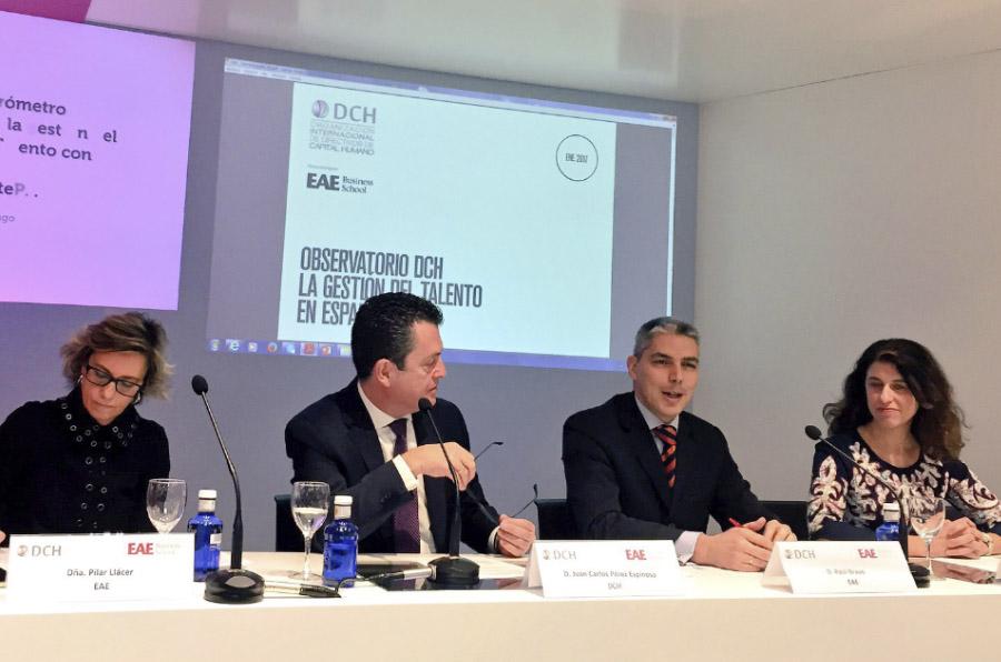 <p>Presentación del I Barómetro DCH sobre la Gestión del Talento en España.</p>