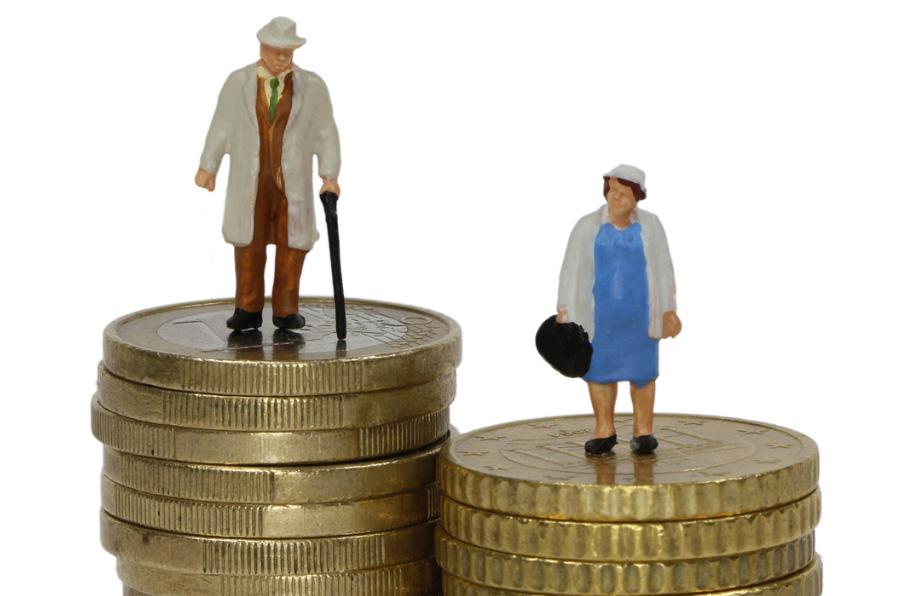 La brecha de género, también en las pensiones