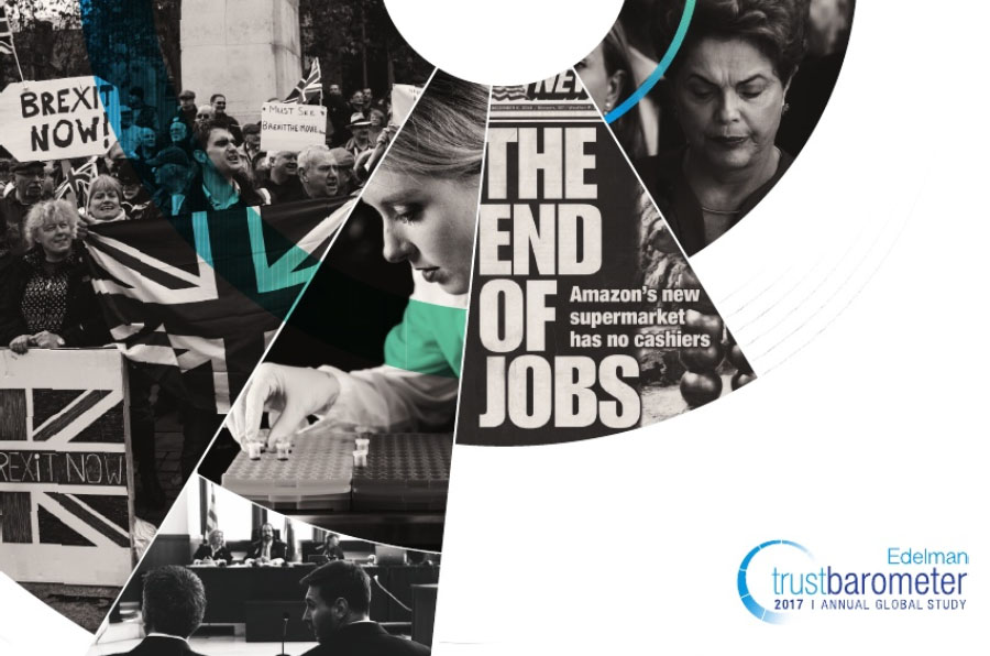 Trust Barometer 2017: Baja la confianza en los medios, empresas y gobiernos y se mantiene en ONG