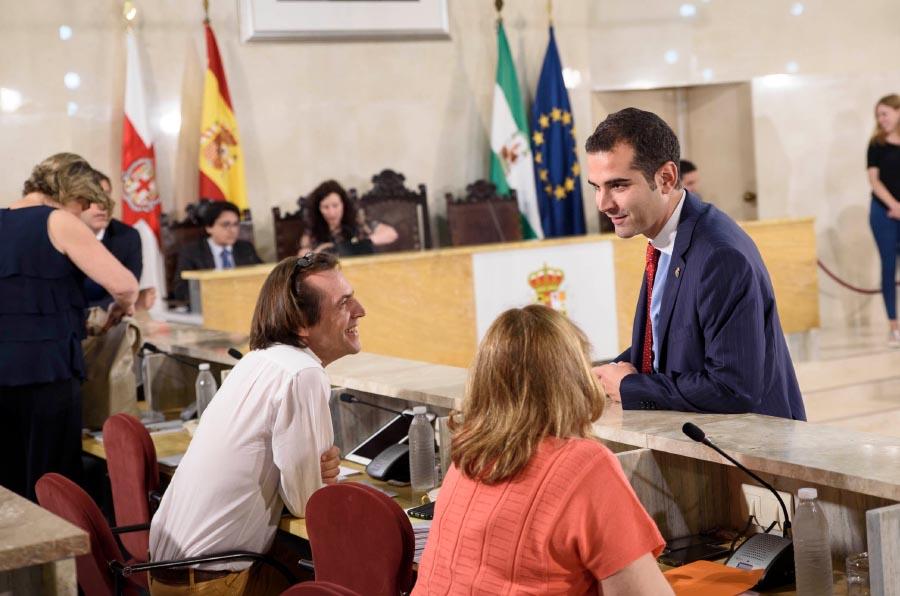 <p>Pleno del Ayuntamiento de Almería.</p>
