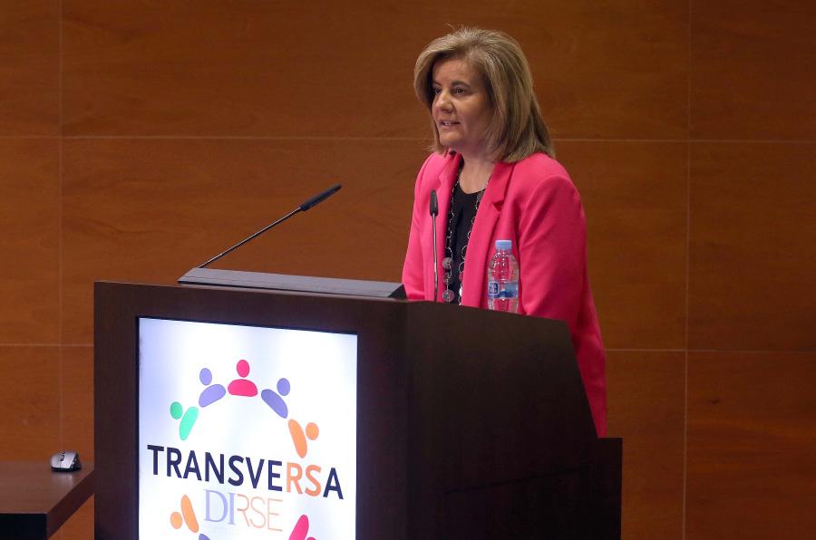 <p>Fátima Báñez, ministra de Empleo y Seguridad Social, durante la Jornada Transversa 2017.</p>