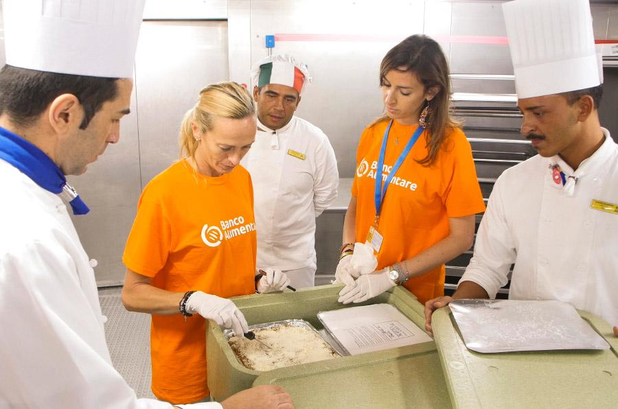 Costa Cruceros dona sus excedentes de alimentos a la Fundación Banco Alimentare