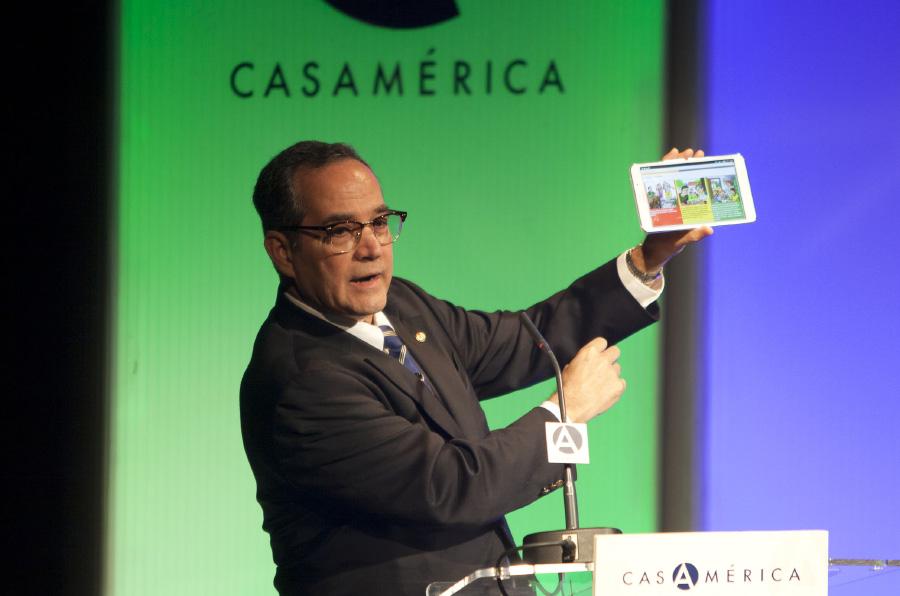<p>Martín Burt, director de la Fundación Paraguaya. Foto: Juanma Miranda</p>