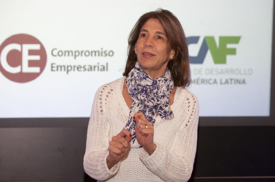 <p>Ana Mercedes Botero, directora corporativa de la Dirección de Innovación Social de CAF–banco de desarrollo de América Latina. Foto: Juanma Miranda</p>