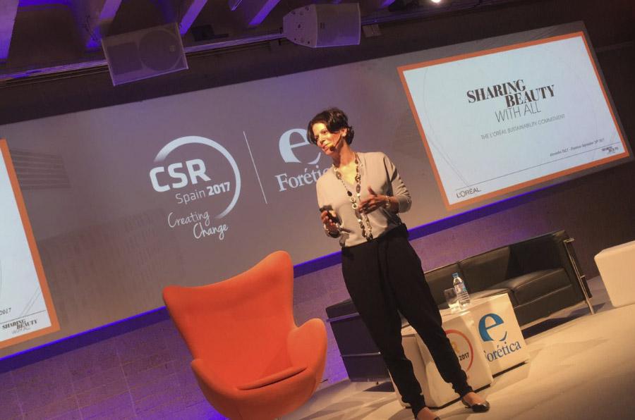 <p>Alexandra Palt, directora mundial de Sostenibilidad de L'Oréal.</p>