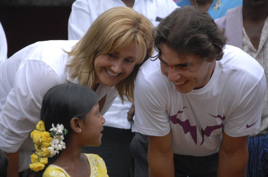 Los niños, objetivo de las acciones solidarias de los deportistas españoles