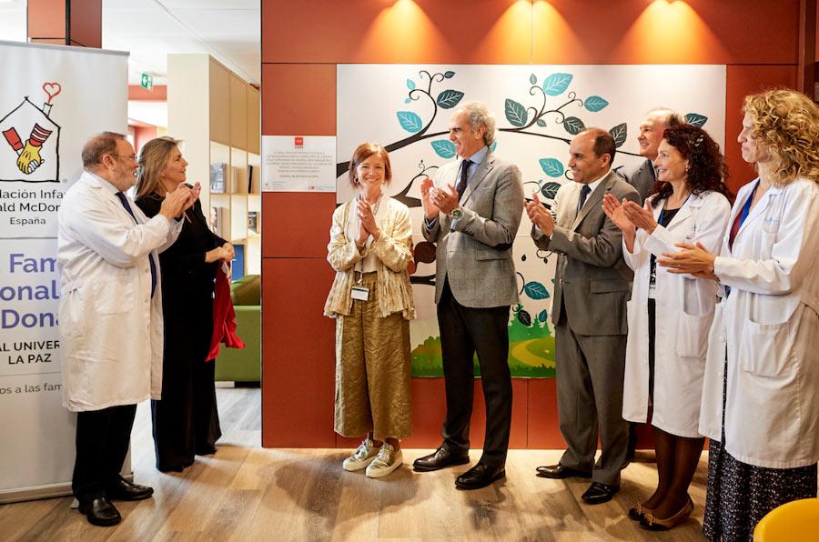 Fundación Ronald McDonald inaugura la primera sala familiar en el Hospital la Paz