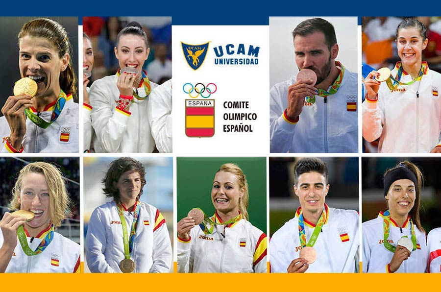 <p>Deportistas olímpicos de la UCAM.</p>