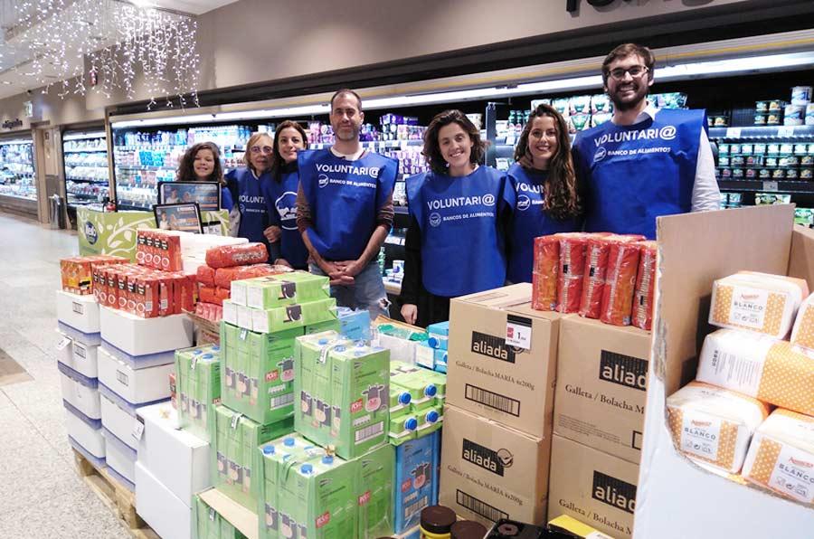 21 millones de kilos de alimentos y 120.000 voluntarios, las cifras de la Gran recogida 2018