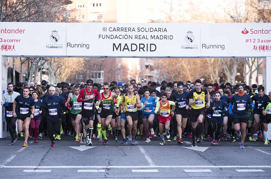 <p>III Carrera Solidaria de la Fundación Real Madrid.</p>