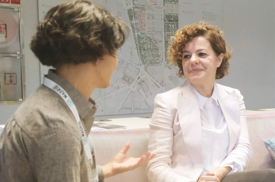 <p>Marianella Cervi, directora de Sostenibilidad y Responsabilidad de Timberland, durante la entrevista.</p>