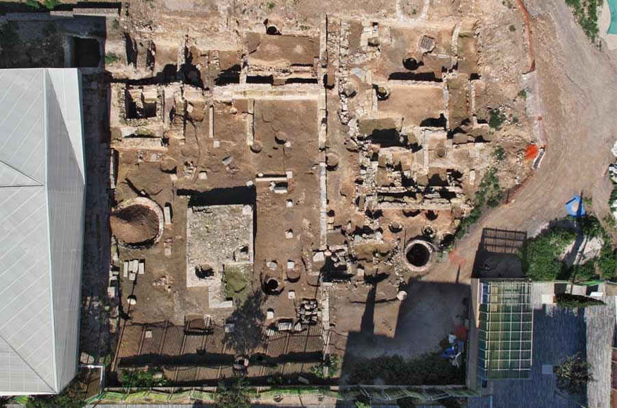 <p>Visión aérea del Parque Arqueológico de El Molinete.Foto: Ayto Cartagena.</p>