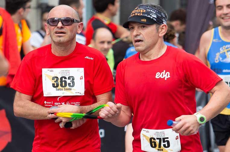 <p>La plataforma 'Comparte tu energía' ayuda a 'runners' con discapacidad visual a encontrar corredores guía.</p>