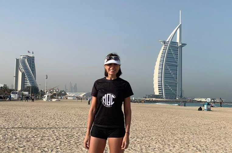 <p>Cristina Mitre en una 'quedada' organizada en Dubai.</p>