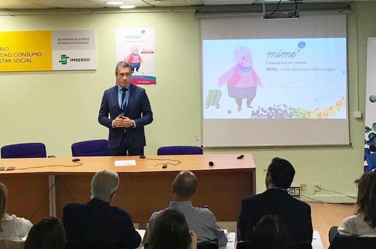 <p>Juan Ignacio Sanz, consejero delegado de Ibermática, durante la presentación de 'MiMe'.</p>
