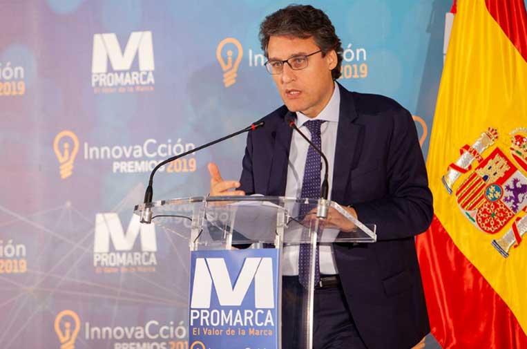 <p>Fernando Miranda, secretario general de Agricultura y Alimentación del Ministerio de Agricultura, Pesca y Alimentación, durante su discurso en los Premios InnovaCción 2019.</p>