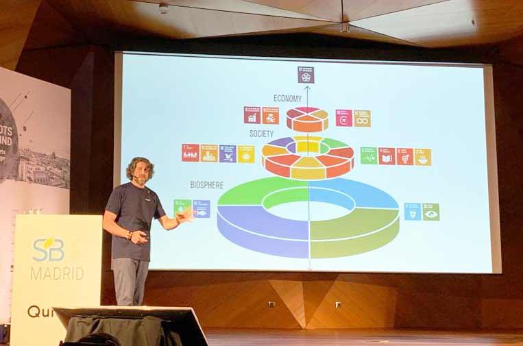 <p>Marc Buckley, defensor oficial de los ODS de la ONU. Foto: Albert Vilariño.</p>