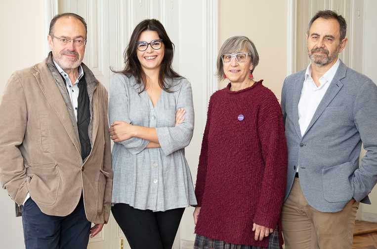 <p>Ramón Roca, Clara Jiménez, Rosa Almirall y Ricardo Martino, nuevos emprendedores Ashoka España 2019.</p>