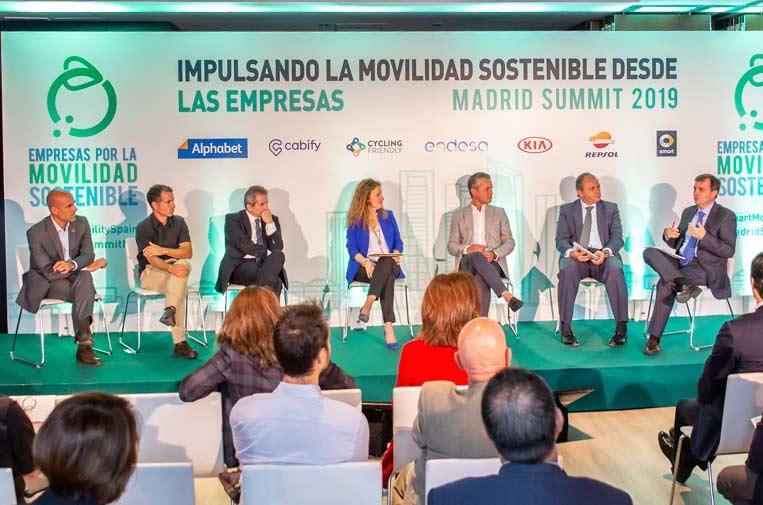 <p>Presentación de la Plataforma Nacional de Empresas por la Movilidad Sostenible.</p>