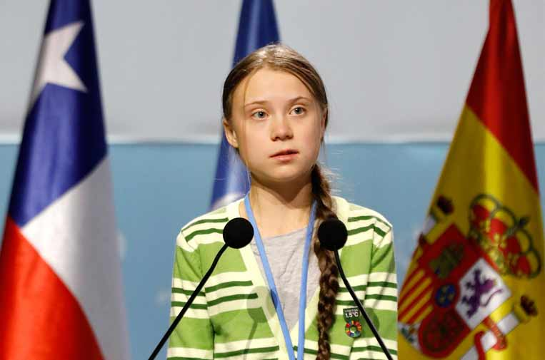 <p>La activista de 16 años Greta Thunberg no se perdió la cita de la COP25.</p>