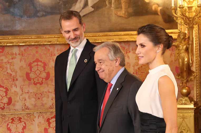 <p>Sus Majestades los Reyes de España recibieron al secretario general de la ONU, Antònio Guterres.</p>