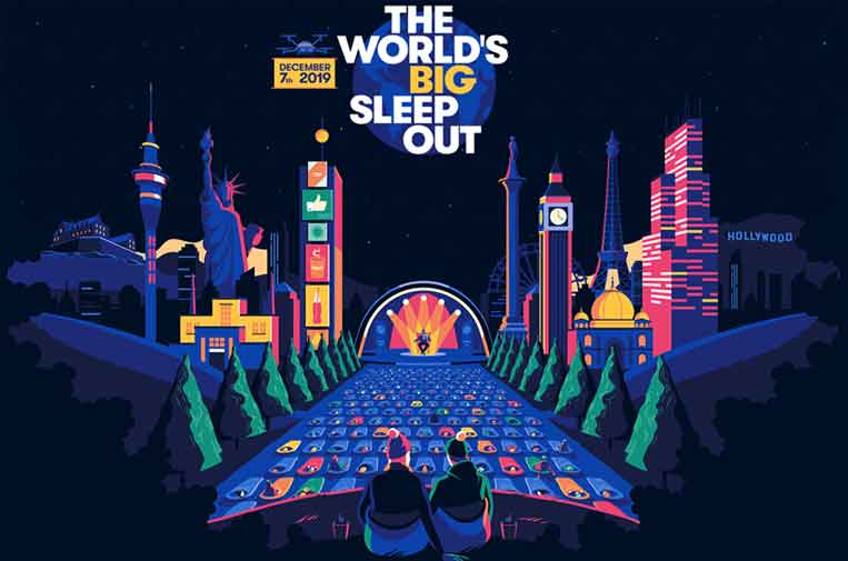 <p>Cartel promocional del evento. Fuente: 'The World's Big Sleep Out'.</p>