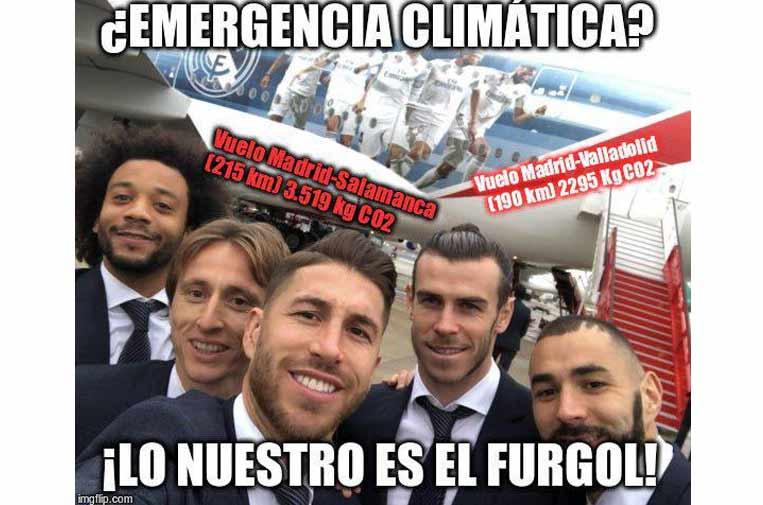 Real Madrid, 1 – Emergencia climática, 0