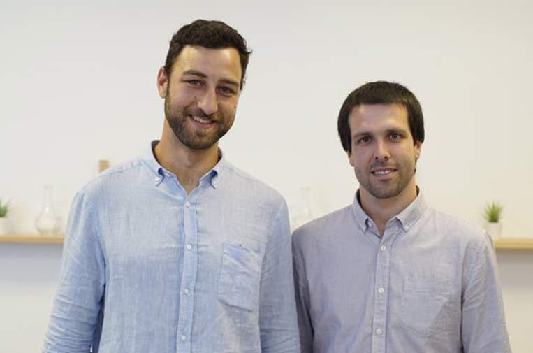 <p>Pedro de Cea y Enric Sagristà, fundadores de Bluengin.</p>
