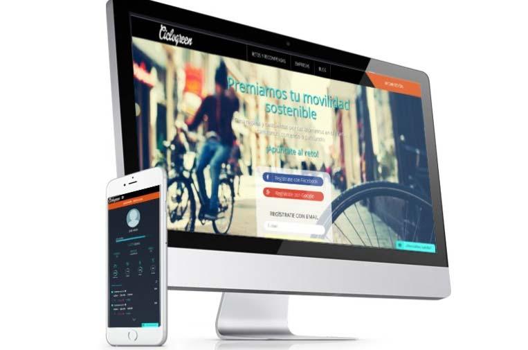 <p>Ciclogreen, la 'app' con premios para los que se mueven en bici.</p>